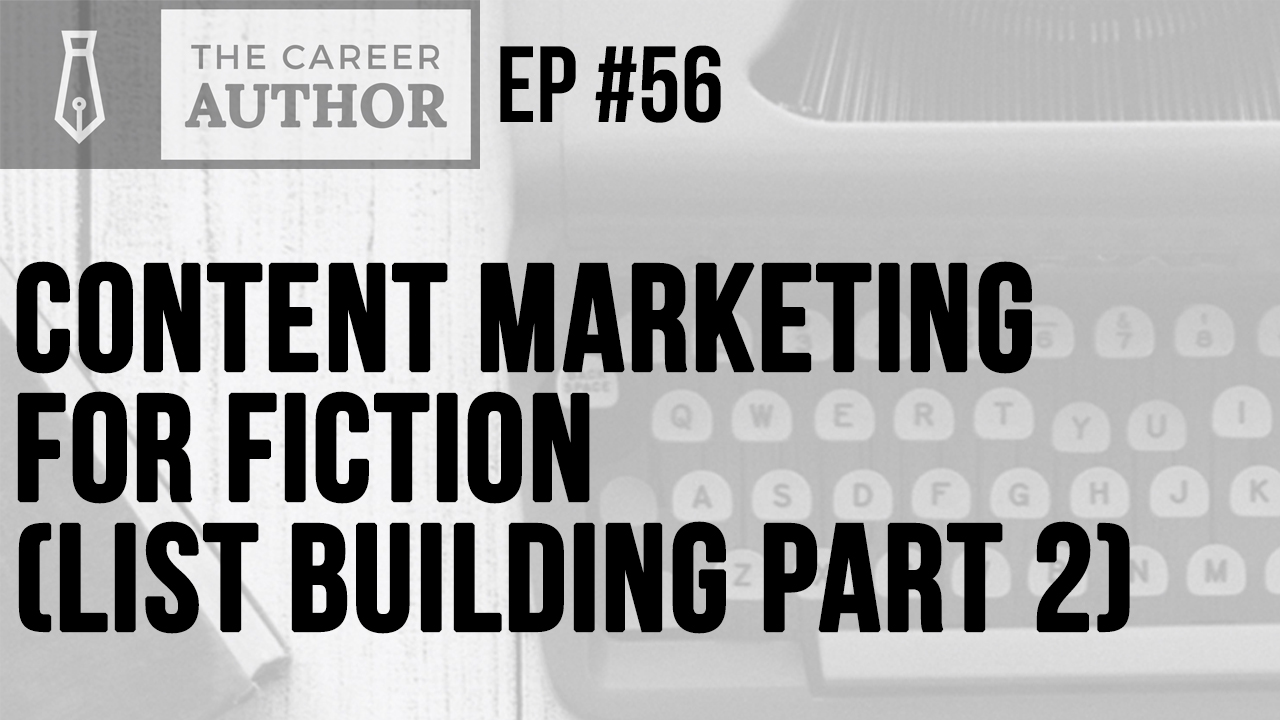 Content marketing for fiction authors